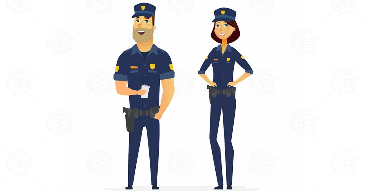 Download Police officers - cartoon people characters by Unknow