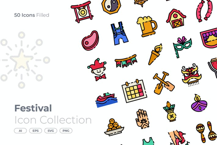 Thumbnail for Festival Filled Icon