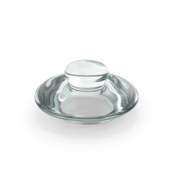 Стеклянная круглая баночка