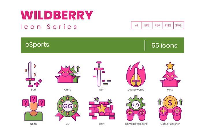 Thumbnail for 55 Íconos de eSports | Wildberry Series