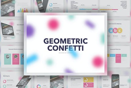Geometric Confetti PowerPoint Template