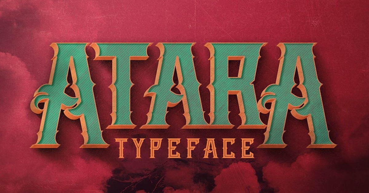 Atara - Vintage Style Font by cruzine