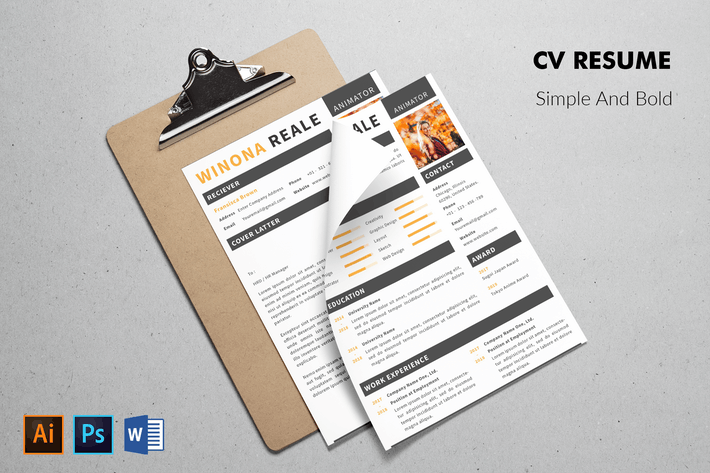 Thumbnail for CV Resume Elegant And Simple