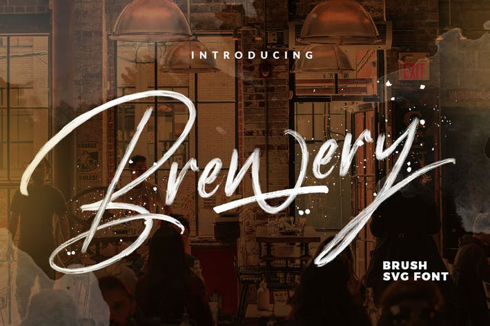 Thumbnail for Brewery SVG Brush font