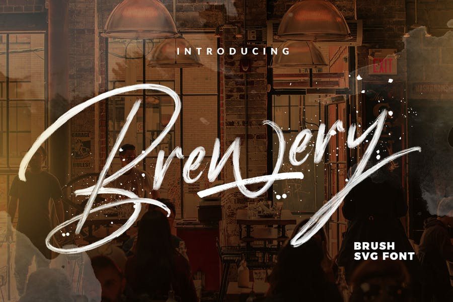 Brewery SVG Brush font