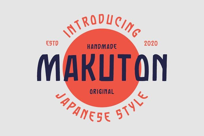 Makuton Japanese Vintage Typeface