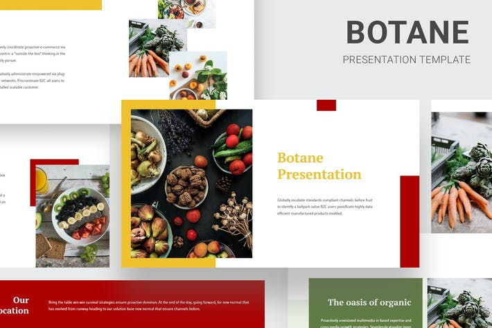 Thumbnail for Botane - Organic Foods Powerpoint