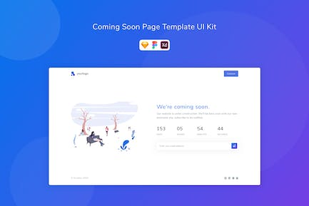 Coming Soon Page Template UI Kit