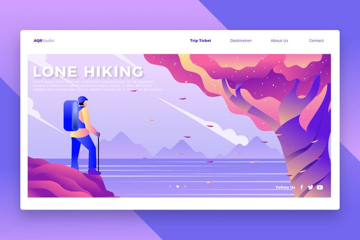 Thumbnail for Hiker - Banner & Landing Page