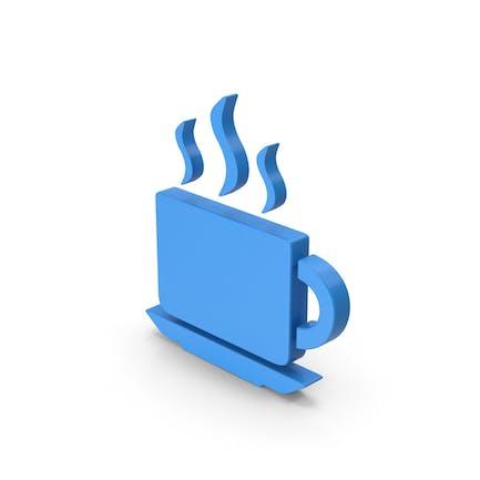 Coffee Cup Symbol Blue