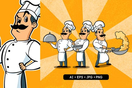 Chef Character set of 3