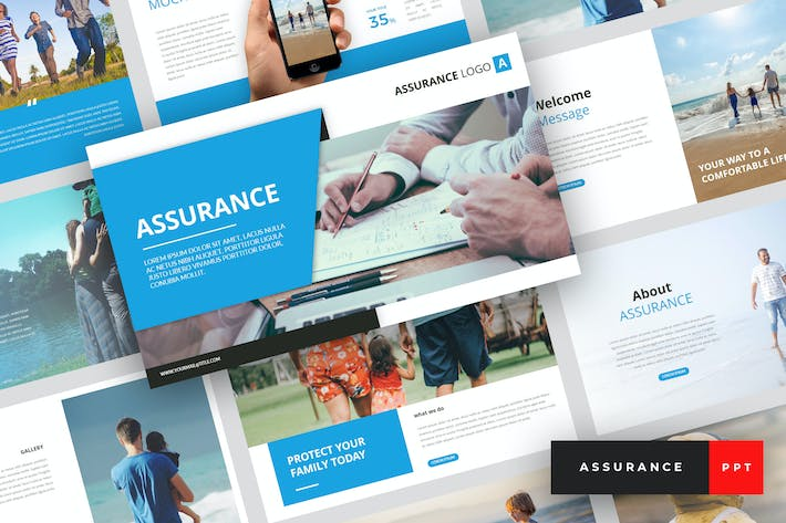 Thumbnail for Assurance - Insurance PowerPoint Template