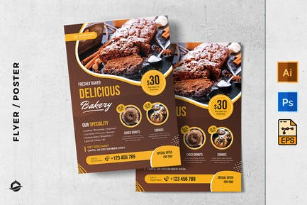 Bakery and Bakeshop promotion Flyer