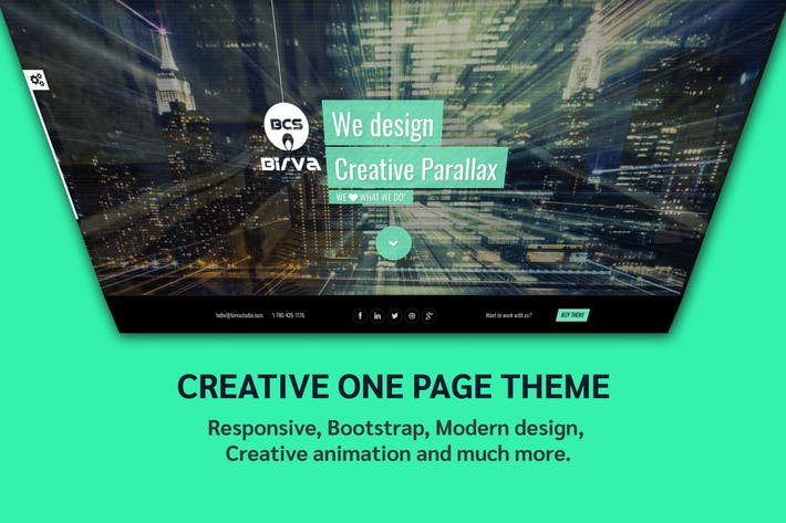 Thumbnail for Birva - Creative one page parallax theme