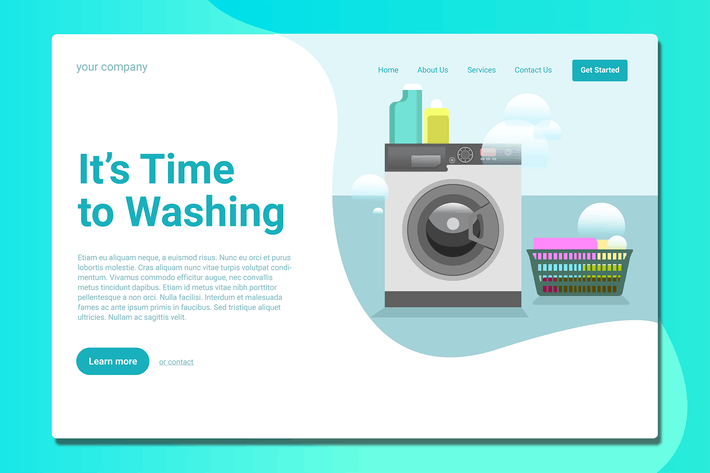 Thumbnail for Laundry - Landing Page