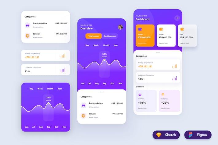 Thumbnail for Financial App Design
