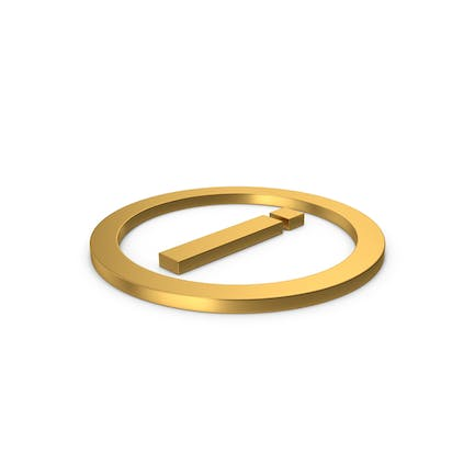 Gold Symbol Inverted Exclamation Mark