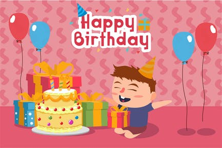 Happy Birthday - Vector illustration