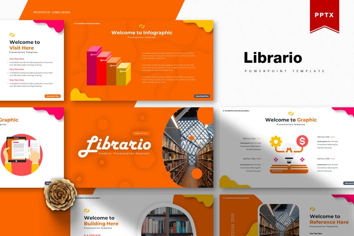 Thumbnail for Librario | Powerpoint Template