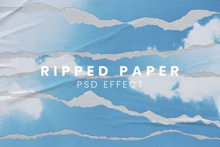 Ripped Paper PSD Effect Easy-to-use