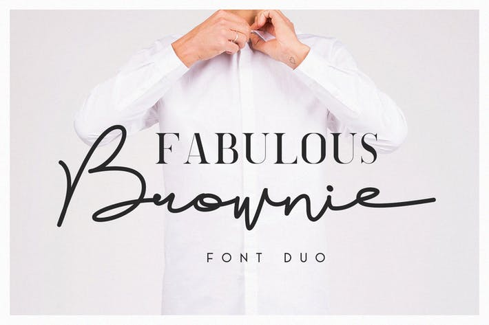 Thumbnail for Brownie Font Duo