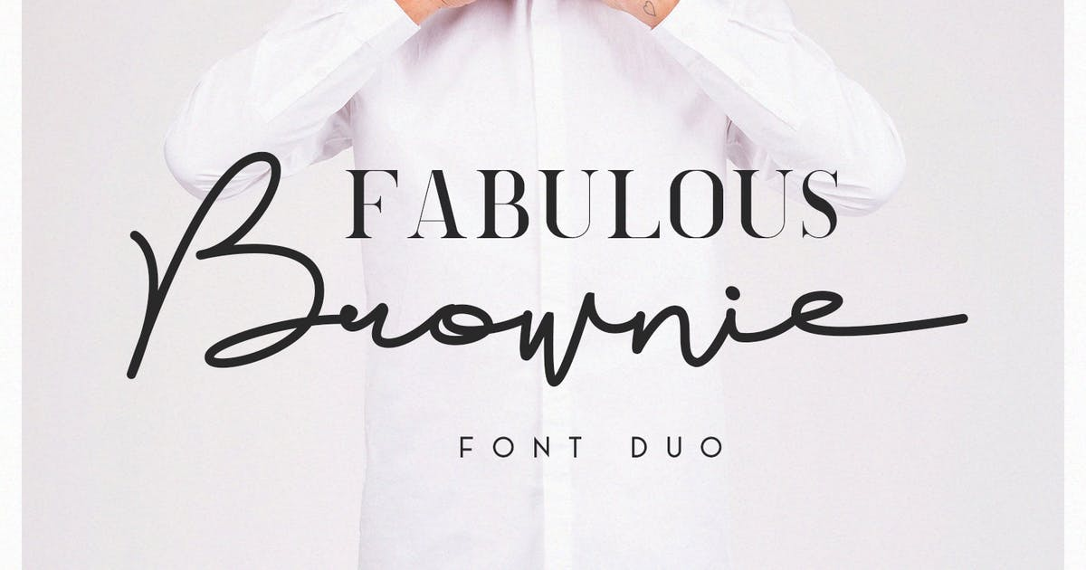 Download Brownie Font Duo by factory738