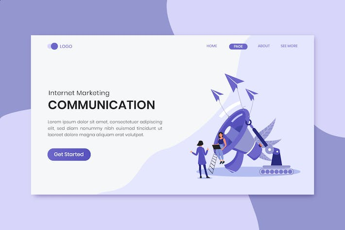 Thumbnail for Communication Marketing Landing Page