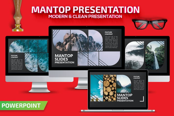 Thumbnail for Mantop Powerpoint Presentation Template