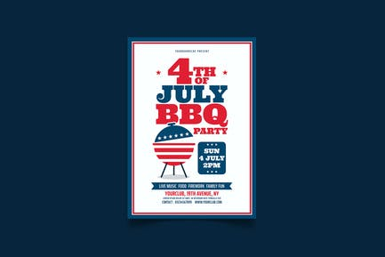 4th July Flyer BBQ Party