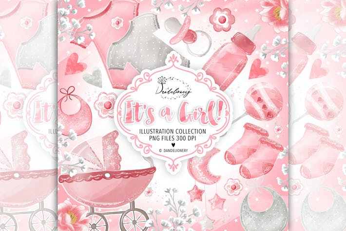 Thumbnail for Baby Girl cliparts