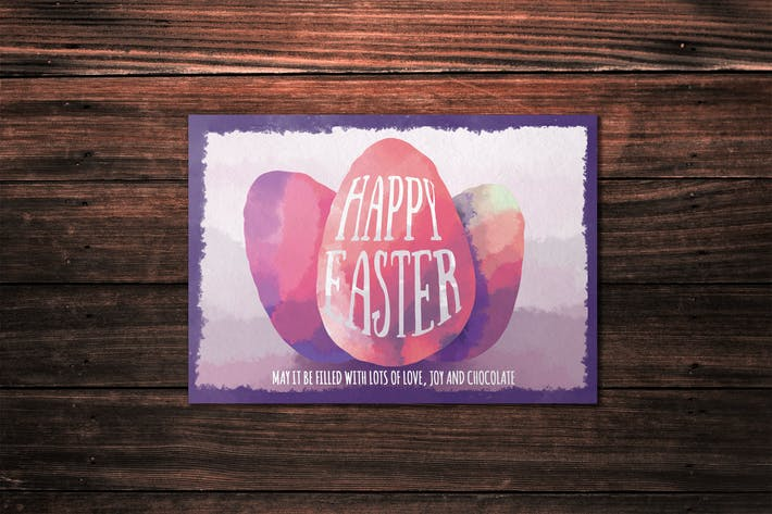 Cover Image For Happy Easter Card Template