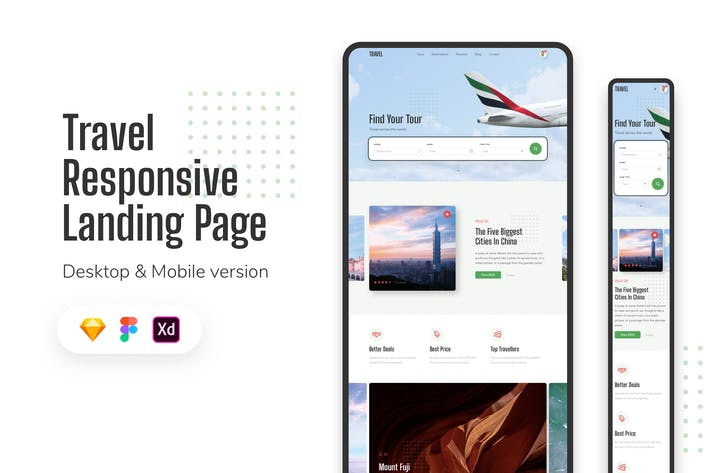 Thumbnail for Travel Responsive Landing Page
