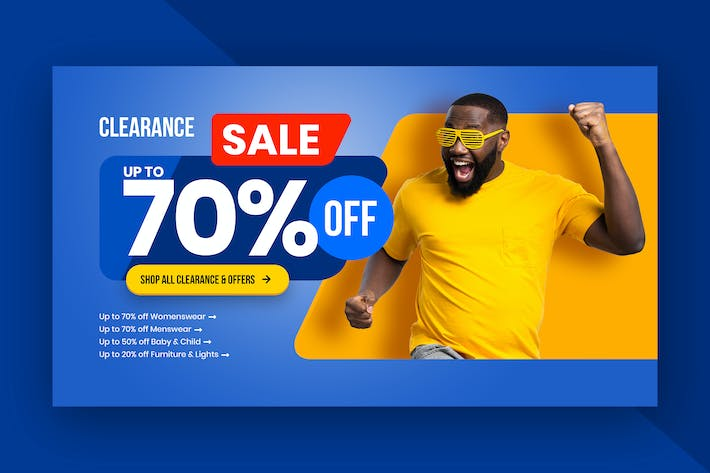 Hero Header Section Template for Fashion Shopping