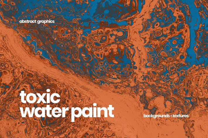 Thumbnail for Toxic Water Paint Backgrounds