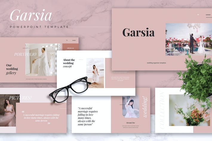 Thumbnail for GARSIA - Wedding Organization Powerpoint Template