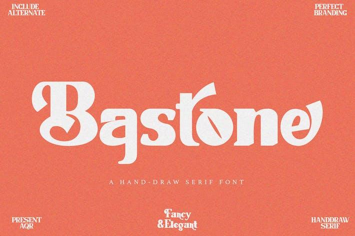 Bastone - Handdraw Con serifa Fuente