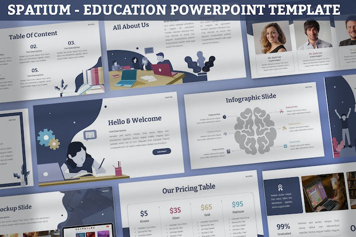 Thumbnail for Spatium - Education Powerpoint Template
