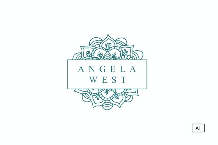 Cover Image For Floral Mandala Logo Template