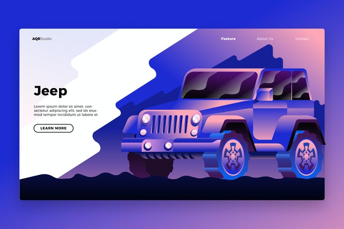 Thumbnail for Jeep - Banner & Landing Page