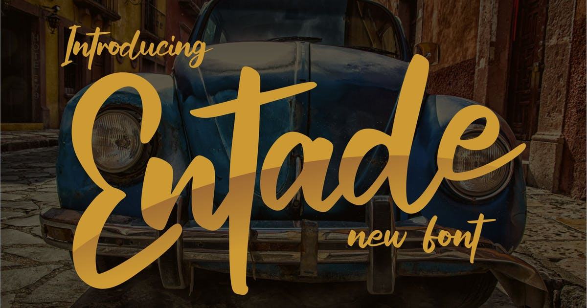 Download Entade New Font by Fannanstudio