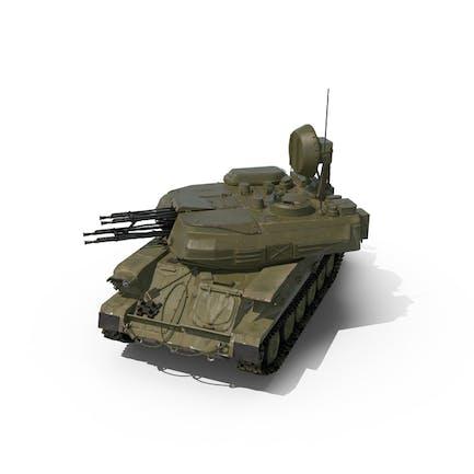 Анти авиационный танк ЗСУ 23 Шилка