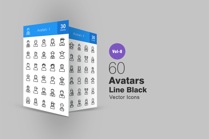 Thumbnail for 60 Avatars Line Icons