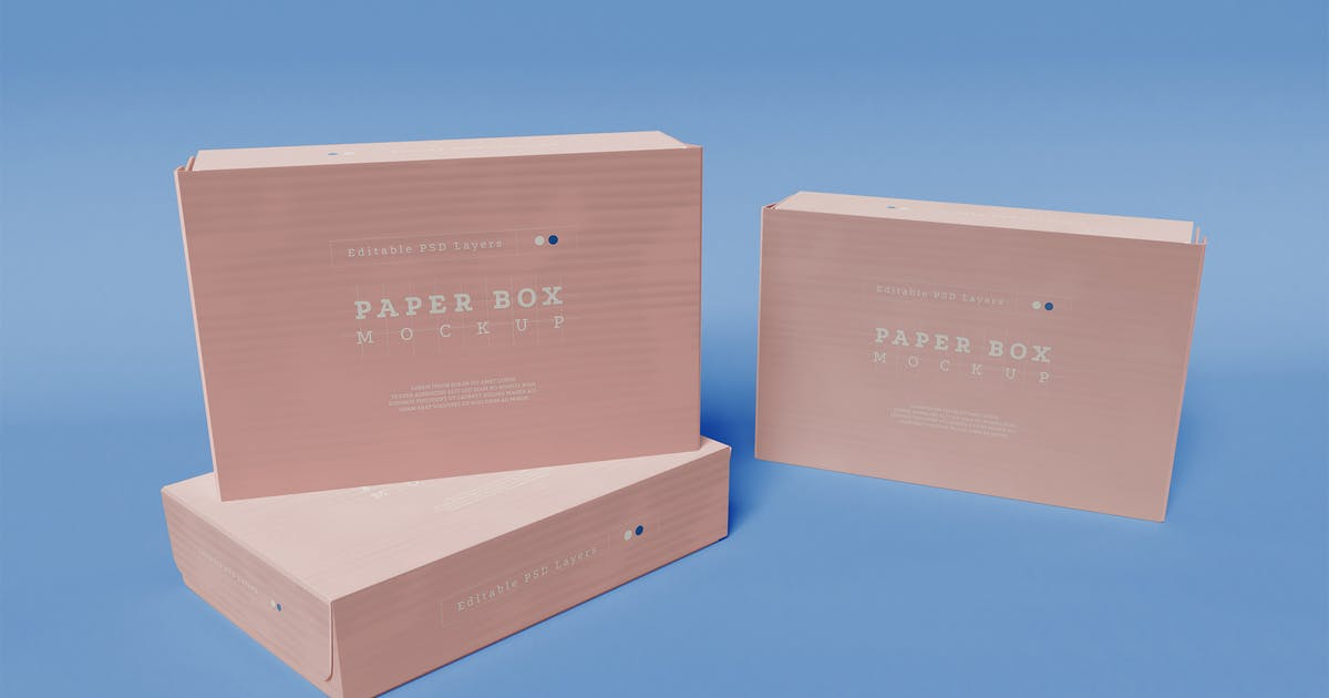 Download Paper Boxes Packaging Mockup by megostudio