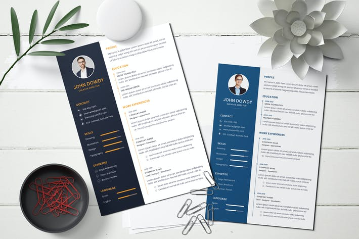 Thumbnail for Business CV Resume Template