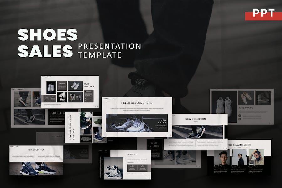 Обувь - Шаблон продаж Powerpoint