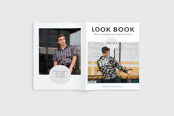 Thumbnail for Freshlook - A4 Fashion Lookbook Brochure Template
