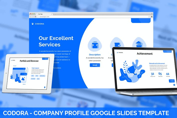 Thumbnail for Codora - Company Profile Google Slides Template