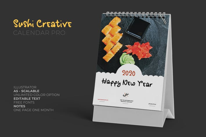 Thumbnail for 2020 Sushi Asian Resto Kreative Kalender Pro