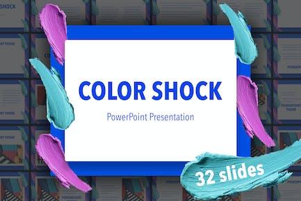 PowerPoint Vorlage für Farbschock