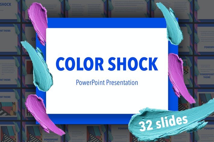 Thumbnail for Color Shock PowerPoint Template